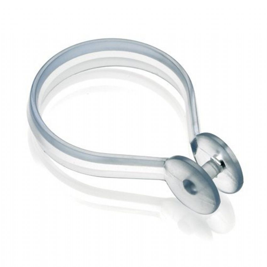 Croydex Clear Button Curtain Rings Hooks
